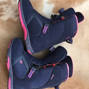 Gently used snowboarding boots